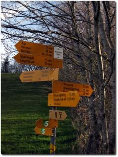 Wege und Wegweiser in alle Richtungen