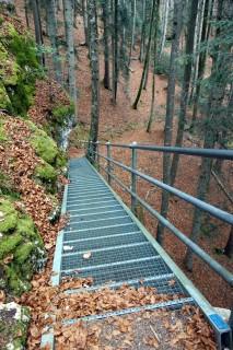 Treppe nach dem Lac Vert