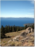 Tahoe Rim Trail - Extrem windig !