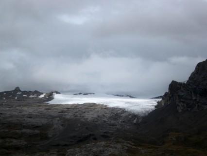 Gletscher Tsanfleuron vom Col du Sanetsch aus