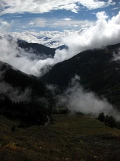 Blick vom Col du Sanetsch runter in Richtung Sion