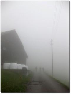 Berauf im dichten Nebel