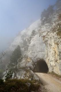 Nebelgrenze beim Schauenburgtunnel