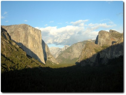 Yosemite Valley nach dem Tunnel - Abends