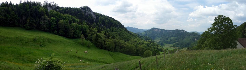 Panorama zum Hirnichopf bei Ulmetli