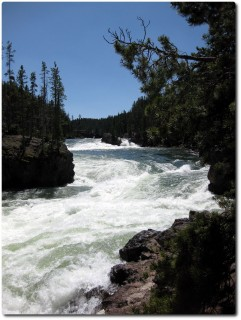 Yellowstone Upper Fall - Zufluss