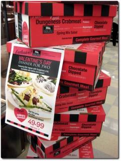 Gourmetmenu zum Valentinstag aus der Kiste
