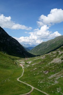 Blick vom Lukmanier ins Val Medel