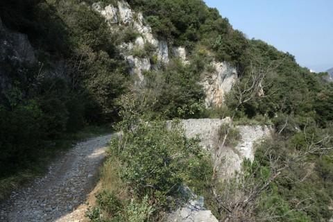 Aufstieg auf der Strada Napoleonica