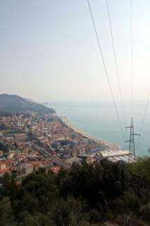 Blick runter nach Finale Ligure