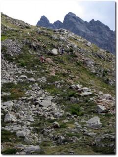 Versus Tragestrecke am Pass da Val Viola
