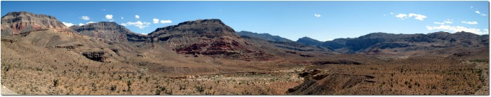 Panorama auf die Virgin River Gorge