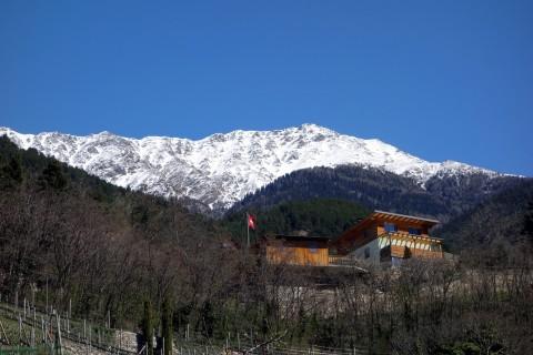 Schöne Häuser in schöner Landschaft