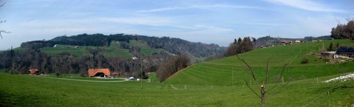 Panorama in Richtung Bantiger von der Vorderen Wull