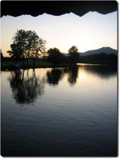 Sonnenuntergang Brücke Wangen a/A