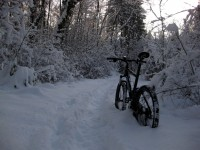 Schwierig zu biken bei 40cm Schnee