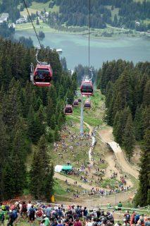 Downhill Strecke von Oben