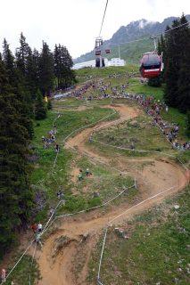 Downhill Strecke von Unten