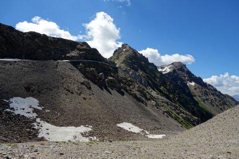 Abfahrt entlang der Weisshornflanke