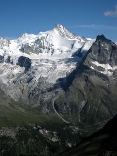 Blick auf das Weisshorn (glaub ich jedenfalls)