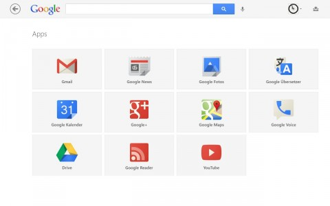 Windows 8 Google App