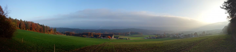 Nebelgrenze Panorama bei Witteli