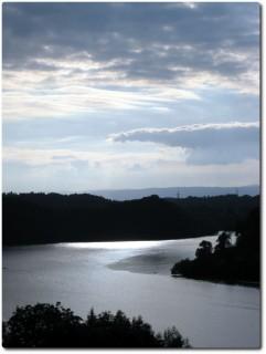 Der Wohlensee in der Abendsonne