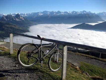 Bikeständer auf dem Wildspitz