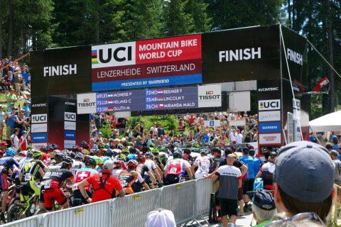 Lenzerheide Start zum MTB CrossCountry Rennen